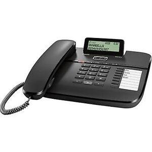 Siemens Gigaset DA810A med ledning analog telefonsvarer, håndfri matt svart
