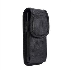 Apple Universal Clip Oxford Cloth Hanging Waist Bag Card Holder Pouch Men Mobiltelefon Bag for 4.7-5.0 tommers Smartphones - Svart