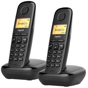Siemens Telefon Gigaset A170 DUO svart