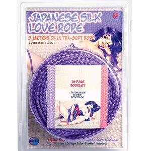 Japanese Silk Love Rope - 5 Meter Lilla Bondage Tau