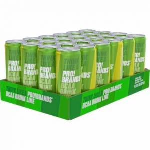 Pro Brands 24 x Pro Brands BCAA Drink, 330 ml, Lime