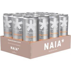 NAIA* 12 x NAIA* Energy Water, 330 ml, Mandarin
