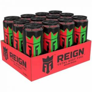 Reign 12 x Reign Total Body Fuel, 500 ml, Melon Mania
