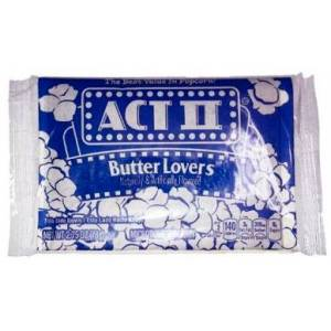 Popcorn Micro Act II Butter Lovers 1 pakke kino-popcorn
