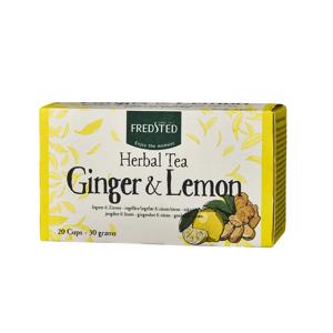 Fredsted Herbal Tea Ginger & Lemon 20 påsar The