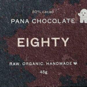 Pana Chocolate Choklad Raw Mörk 80% 45 g