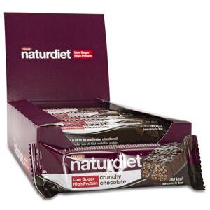 Naturdiet Low Sugar High Protein Bar Crunchy Chocolate 18-pack