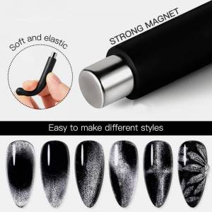 Newchic Cat Eye Magnet Spar UV Gel Polish Special Soft Elastic Fancy Cylindrical Powerful Magnet Nail Tool