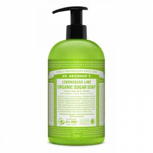 Organic Sugar Soap Lemongrass & Lime 710 ml Sæbe