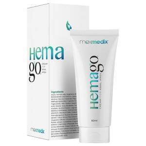 maxmedix HemaGo Creme - Hæmoride Behandling - Mod Hæmorider - Dermatologisk Testet Hæmoride Creme - 60ml Creme Hæmorider - Behandling Hæmorider fra Maxmedix