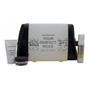 bareMinerals Your Perfect Picks Gavesett 15ml Primer + 0.75g Finishing Powder + 25ml Face Serum + Makeup Bag