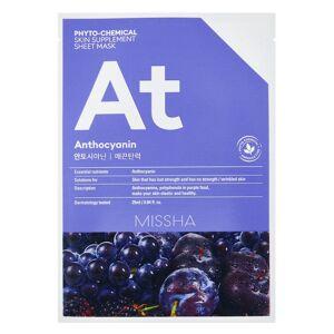 Missha Phytochemical Skin Supplement Sheet Mask Anthocyanin 25ml