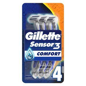 Gillette Sensor3 Comfort Men's Disposable Razors x4
