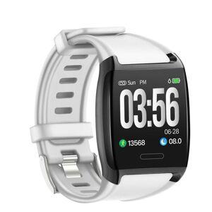 eStore V2 aktivitet armbånd med fargeskjerm og hjertefrekvensmåler-hvit
