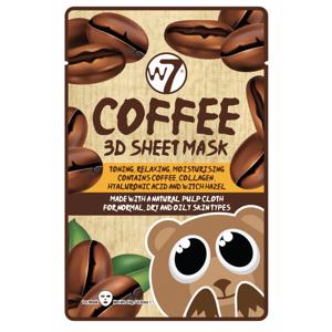 W7 3D Sheet Face Mask Coffee 1 stk Ansiktsmaske