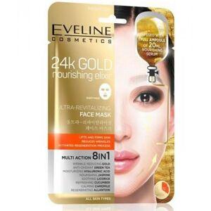 Eveline 24K Gold Revitalizing Face Mask 1 stk Ansiktsmaske