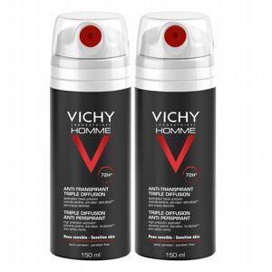 Vichy Homme 72H Triple Diffusion Deospray 2 x 150 ml Deodorant