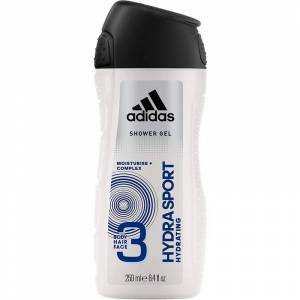 Adidas 3 in 1 Hydra Sport Showergel 250 ml Dusjsåpe