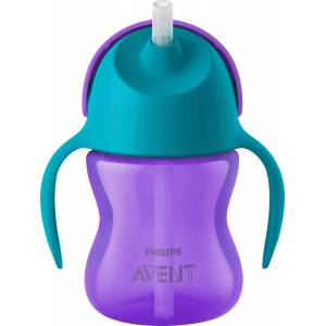 Philips Avent Straw Cup 200 ml Lilla/Turkis