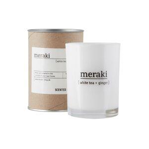Meraki Doftljus, White tea & Ginger, dia.: 8 cm, h.: 10,5 cm