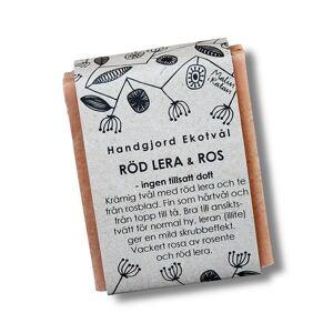 Malin i Ratan Handgjord Ekotvål Röd lera & Ros - Utan parfym, 110 g