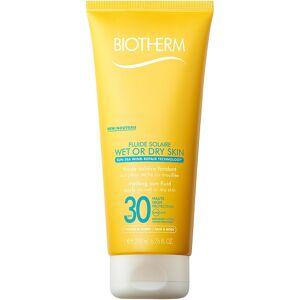 Biotherm Köp Biotherm Fluide Solaire Wet or Dry Skin, SPF30 200 ml Biotherm Solskydd fraktfritt