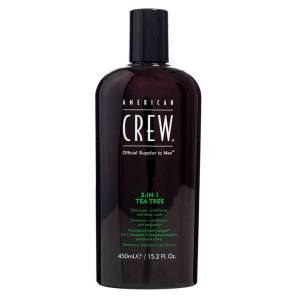 American Crew 3 In 1 Tea Tree Shampoo, Conditioner & Bodywash 450ml