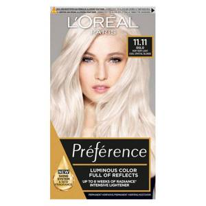 L'Oreal Paris Hårfarge L'Oréal Paris Préférence Core Récital 11,11 Ultra Light Extra Light Cool Silver Blonde