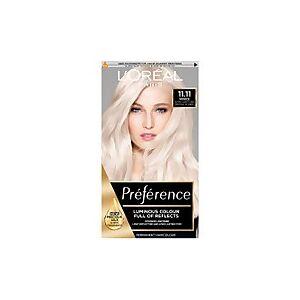 L'Oréal Paris Préférence Infinia Hair Dye (Various Shades) - 11.11 Ultra Light Crystal Blonde