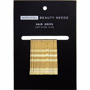 Nordicfeel Beauty Needs, Hair Grips Light 24pcs 4,8cm Nordicfeel Beauty Needs Hårstrikker & Hårbånd