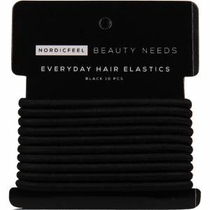 NordicFeel Beauty Needs Everyday Hair Elastics, Black 10 Pcs NordicFeel Beauty Needs Hårstrikker & Hårbånd