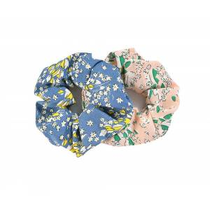JEWELCITY 2 blomster scrunchies