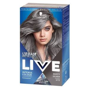 Schwarzkopf hårfarge Schwarzkopf Live XXL Urban Metallic #72 Dusty Silver