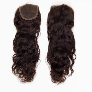 Rapunzel® Äkta löshår Lace Closure Soft Wave 2.3 Chocolate Brown 40 cm