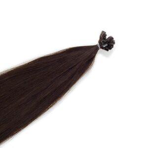 Rapunzel® Äkta löshår Nail Hair Original Rakt 2.3 Chocolate Brown 60 cm