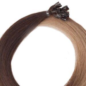 Rapunzel® Äkta löshår Nail Hair Premium Rakt O2.2/7.3 Brown Ash Ombre 50 cm