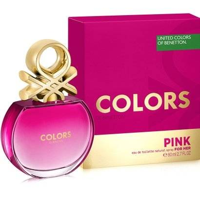 Benetton Perfume Feminino Colors Pink EDT 80ml - Feminino-Incolor