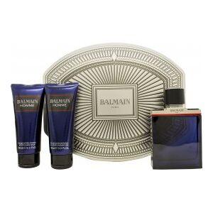 Balmain Homme Gift Set 100ml EDT + 100ml Shower Gel + 100ml Aftershave Balm