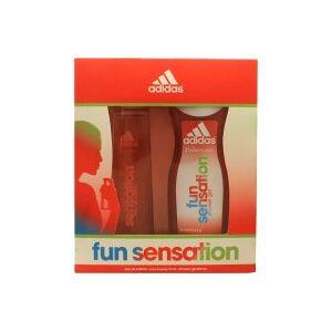 Adidas Fun Sensation Gavesett 75ml EDT Spray + 250ml Shower Gel