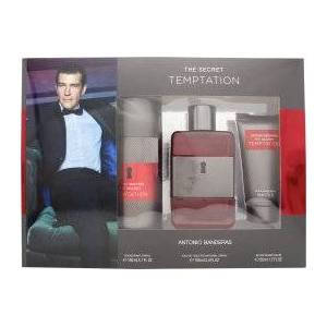 Antonio Banderas The Secret Temptation Presentset 100ml EDT + 150ml Deodorantspray + 50ml Aftershave Balm