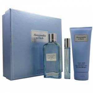 Abercrombie and Fitch First Instinct Blue Gift Set: EdP 100ml+EdP 15ml+BL 200ml