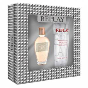 Replay Jeans Original for Woman Gift Set: EdT 20ml+BL 100ml