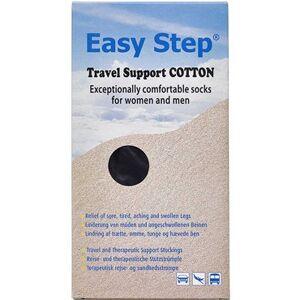 Easy Step Kn Travel Cotton Sort 37-39 Medicinsk udstyr 1 par