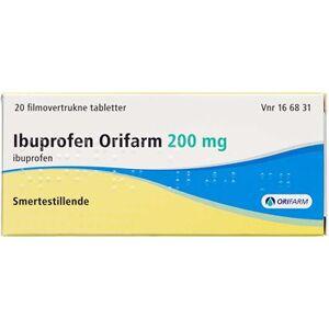 """Orifarm Ibuprofen """"Orifarm"""" 200 mg 20 stk Filmovertrukne tabletter"""