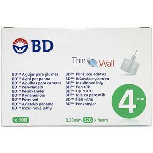 BD Micro-Fine+ Penkanyle 4 mm Medicinsk udstyr 100 stk