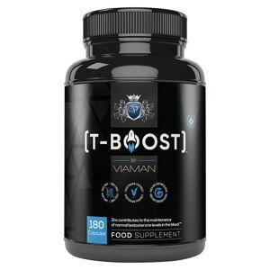 Viaman T Boost Potenspiller, 180 Kapsler - Til mænd med rejsningsproblemer
