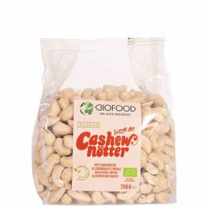 Biofood Cashewnøtter, Hele, 750 g