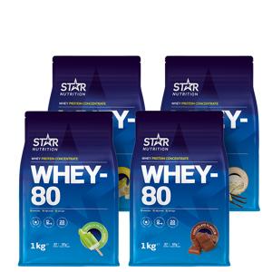 Star Nutrition Whey-80 Mix&Match, 4x1kg