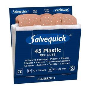 Salvequick Plastplåster 6036 6x45-Pack, Refill
