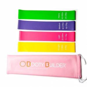 Booty Builder Mini Bands Pink 4-Pack